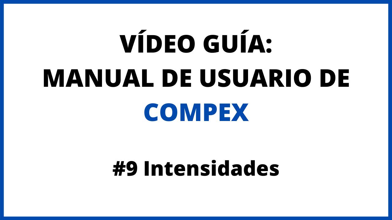 Video guía de uso de compex